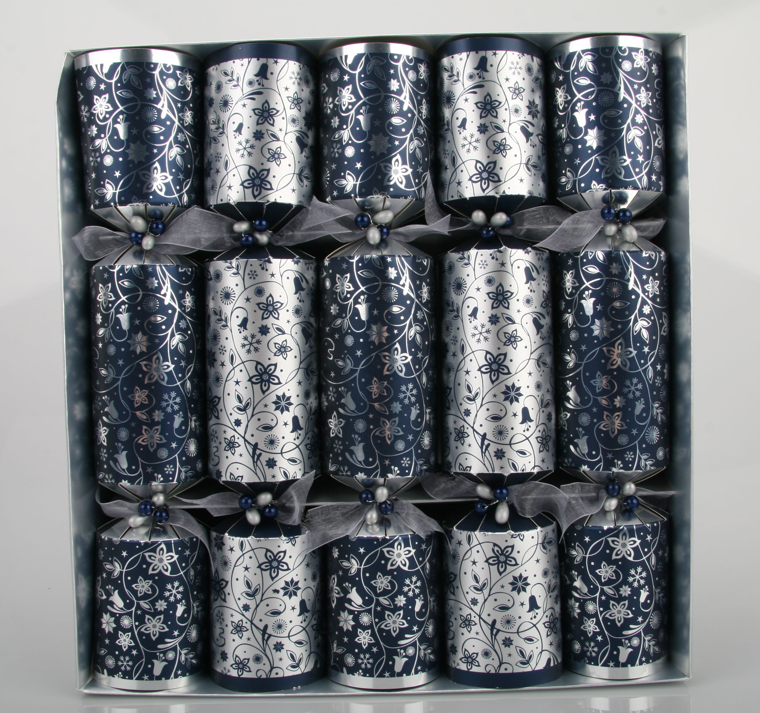 Eclipse 10 navy floral crackers