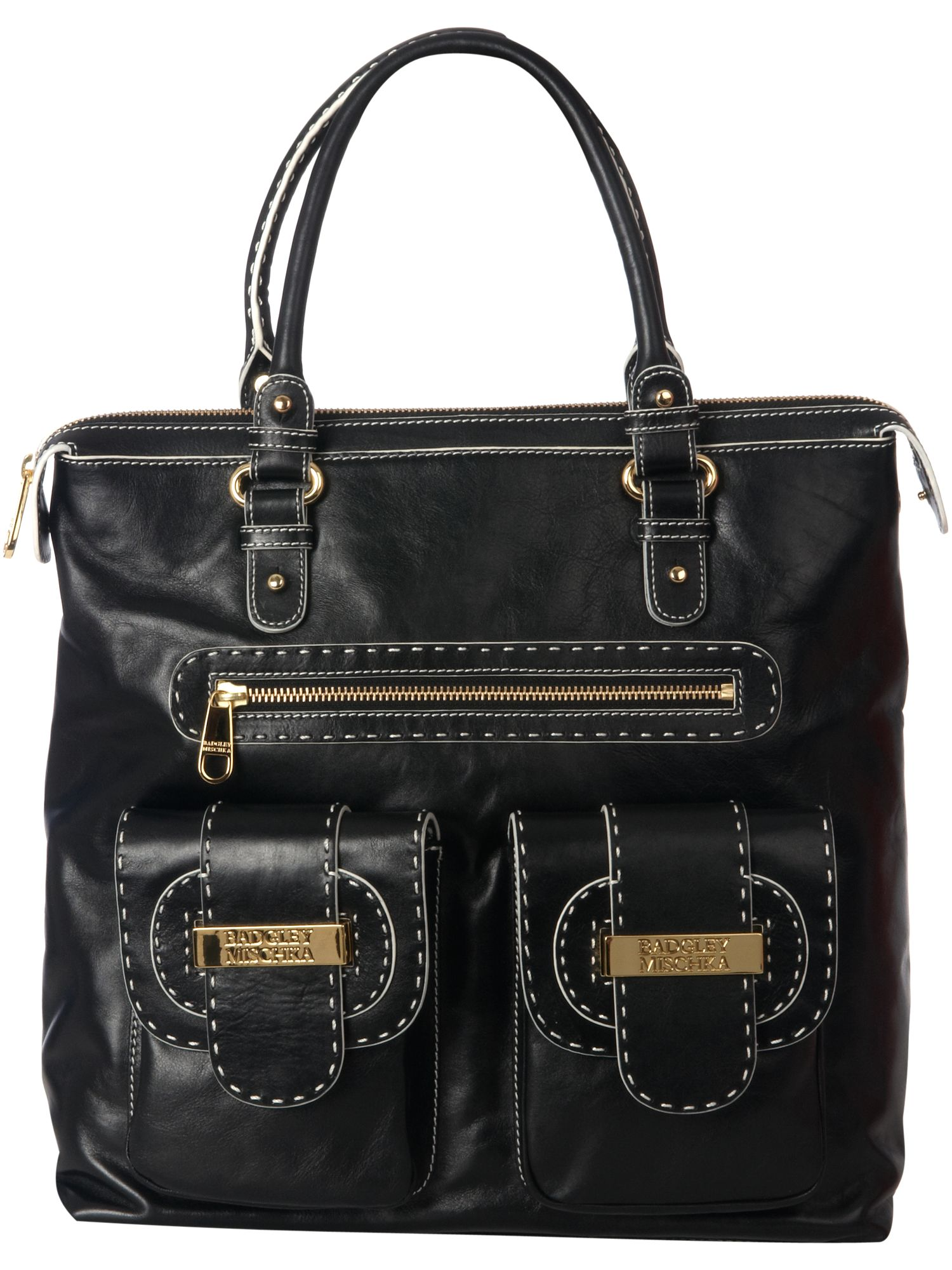Ally extra large leather tote bag.