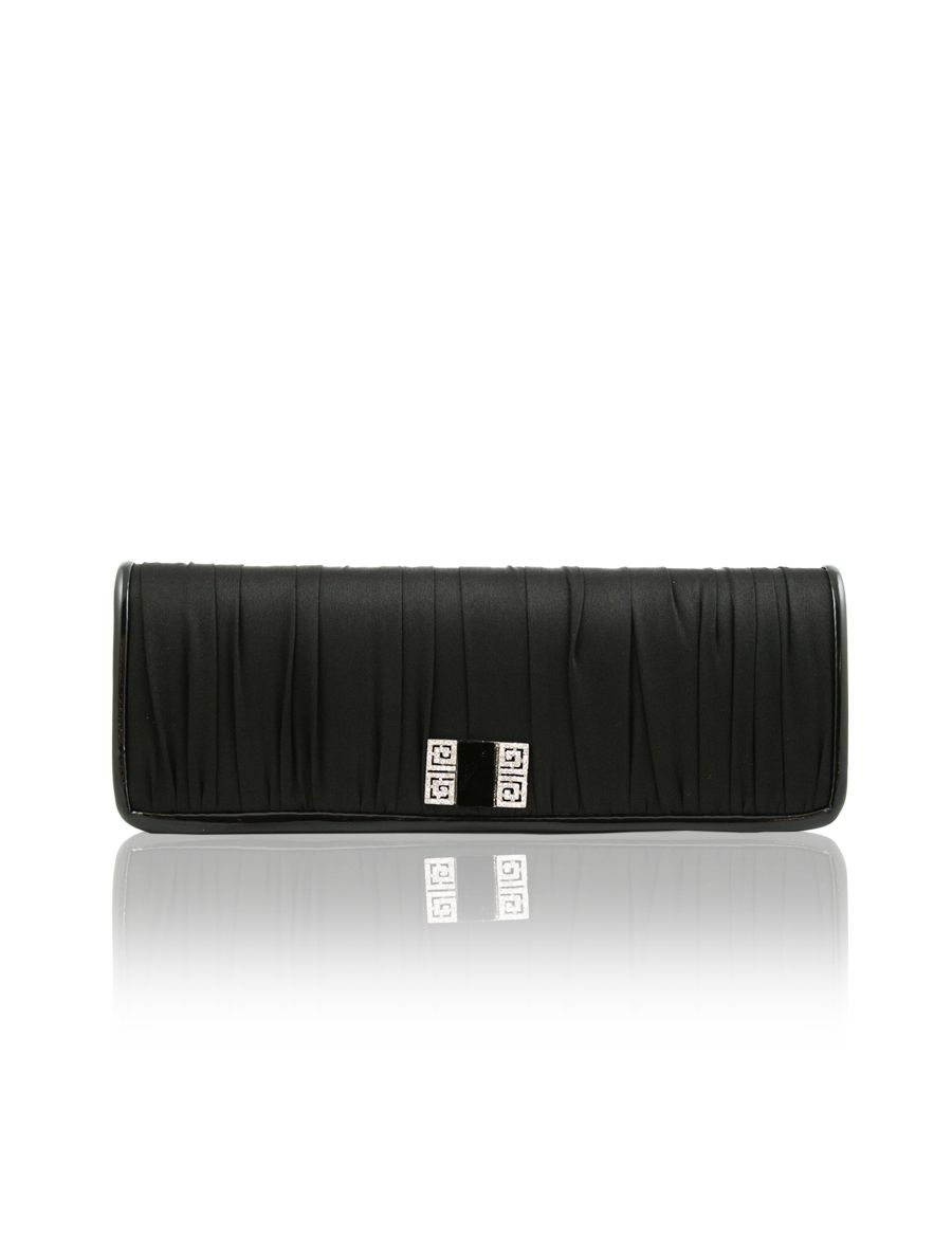 Aftershock Candace pleated clutch bag with product image