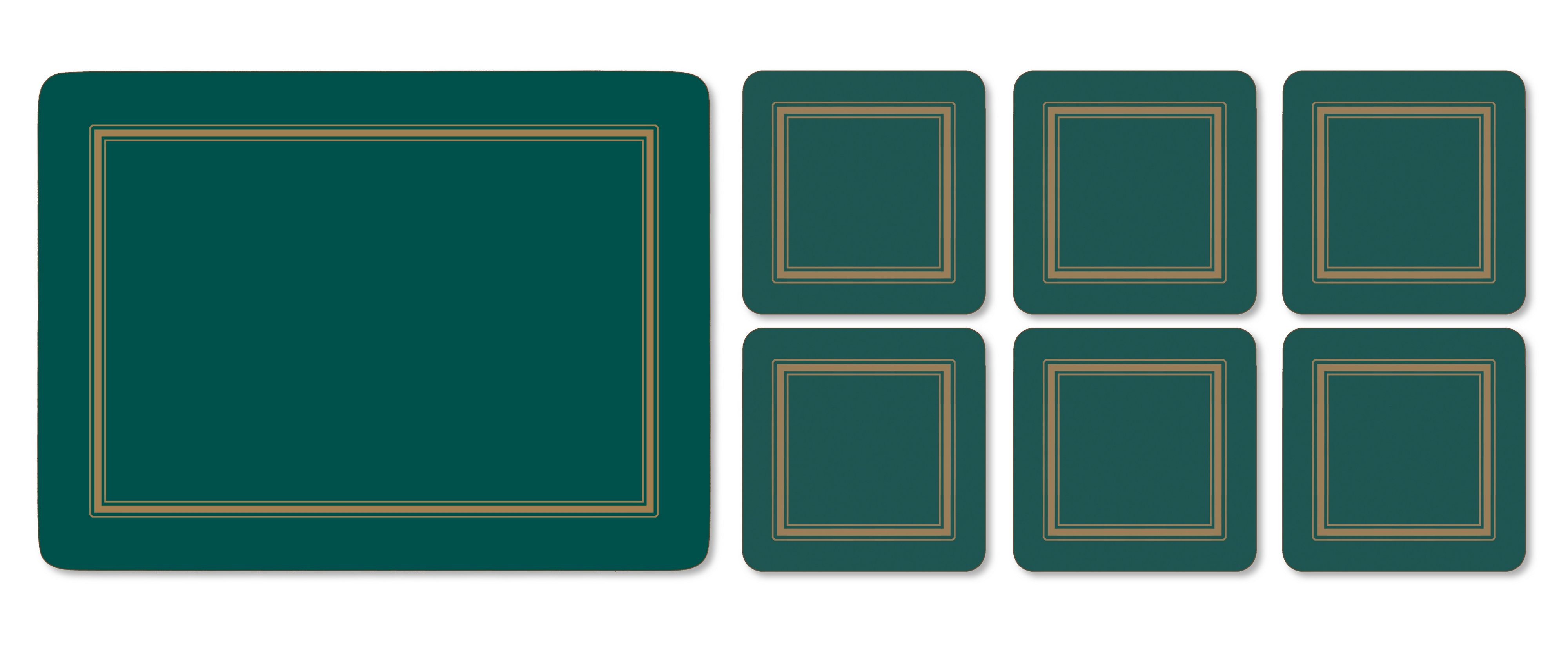 Traditional emerald set of 6 coasters