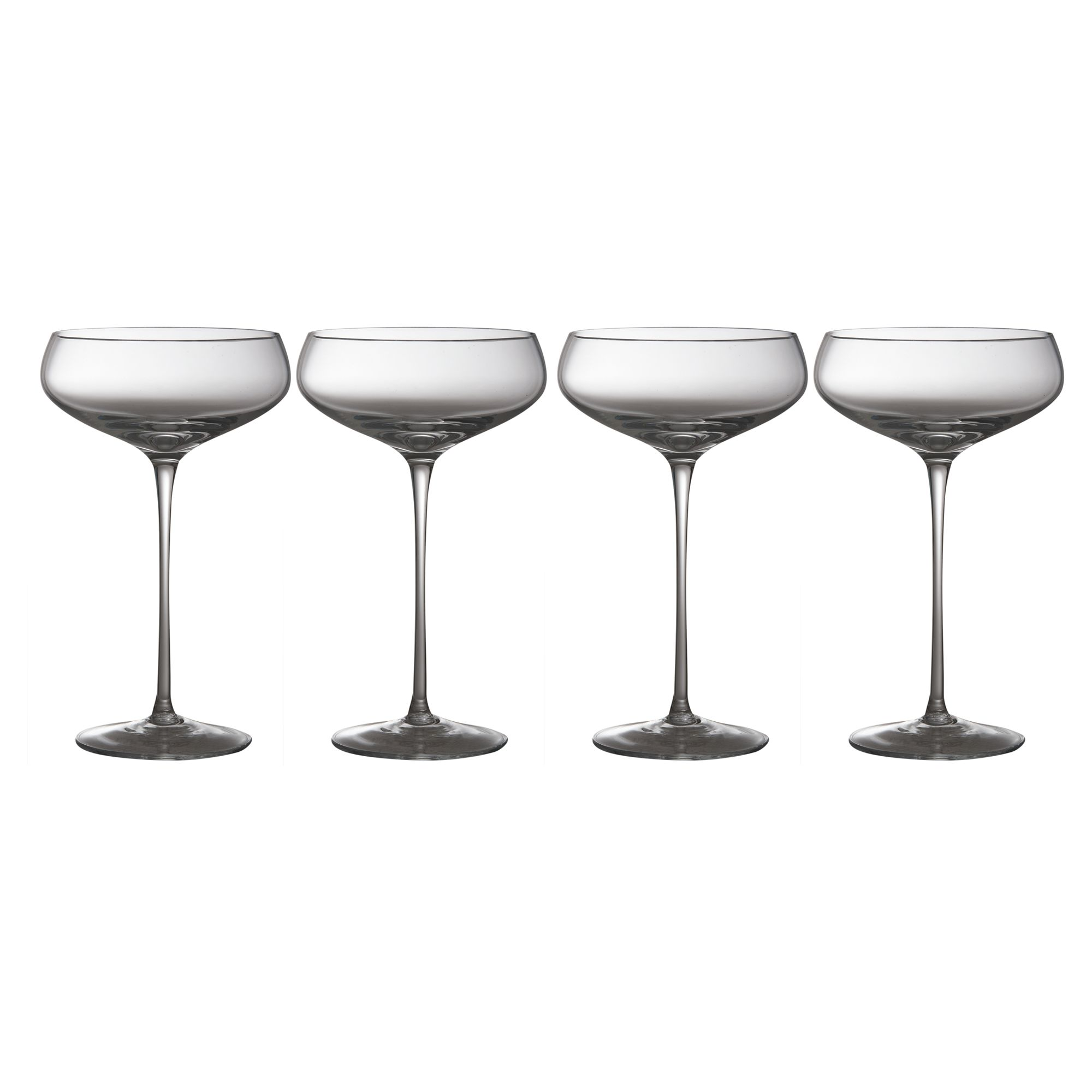 Wine collection champagne saucers, set of 4