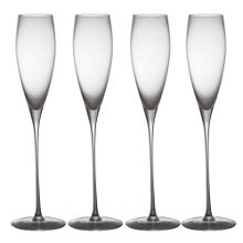Wine collection champagne flutes, set of 4