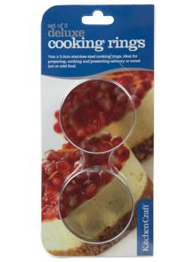 Stainless steel cooking rings