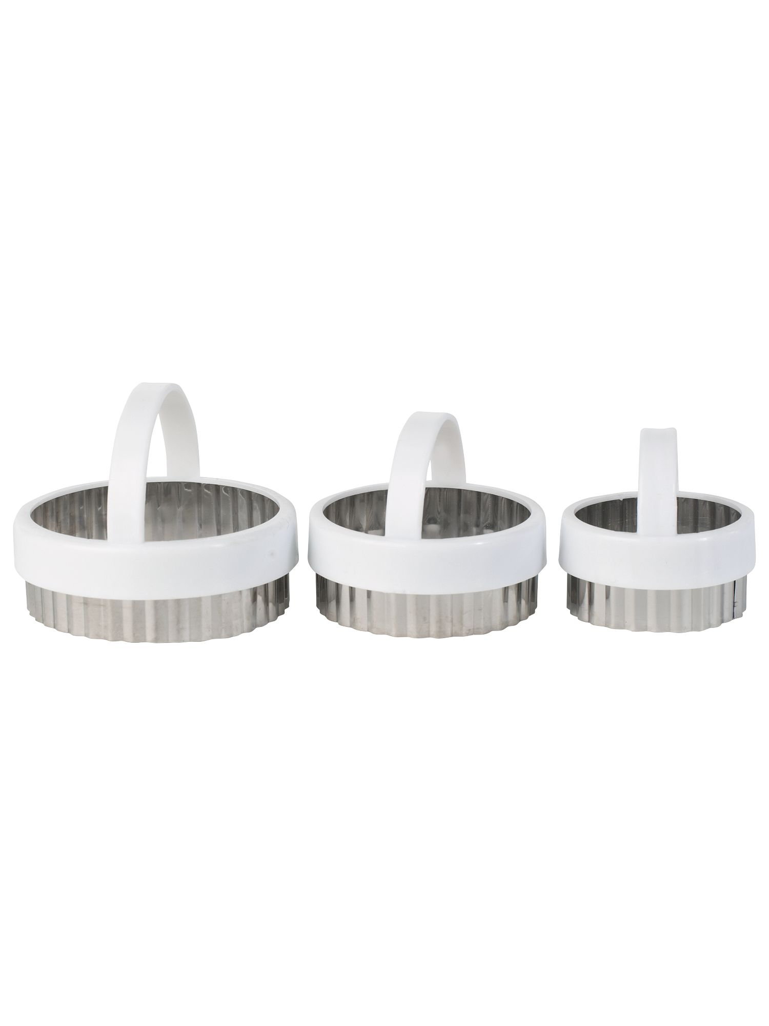 Fluted Pastry Cutters 3 Piece Set