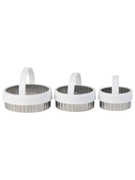 Kitchen Craft Fluted Pastry Cutters 3 Piece Set