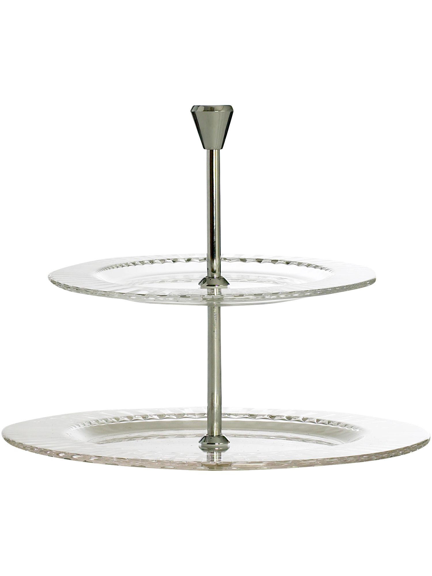 Linea Diva two tiered glass cake plate