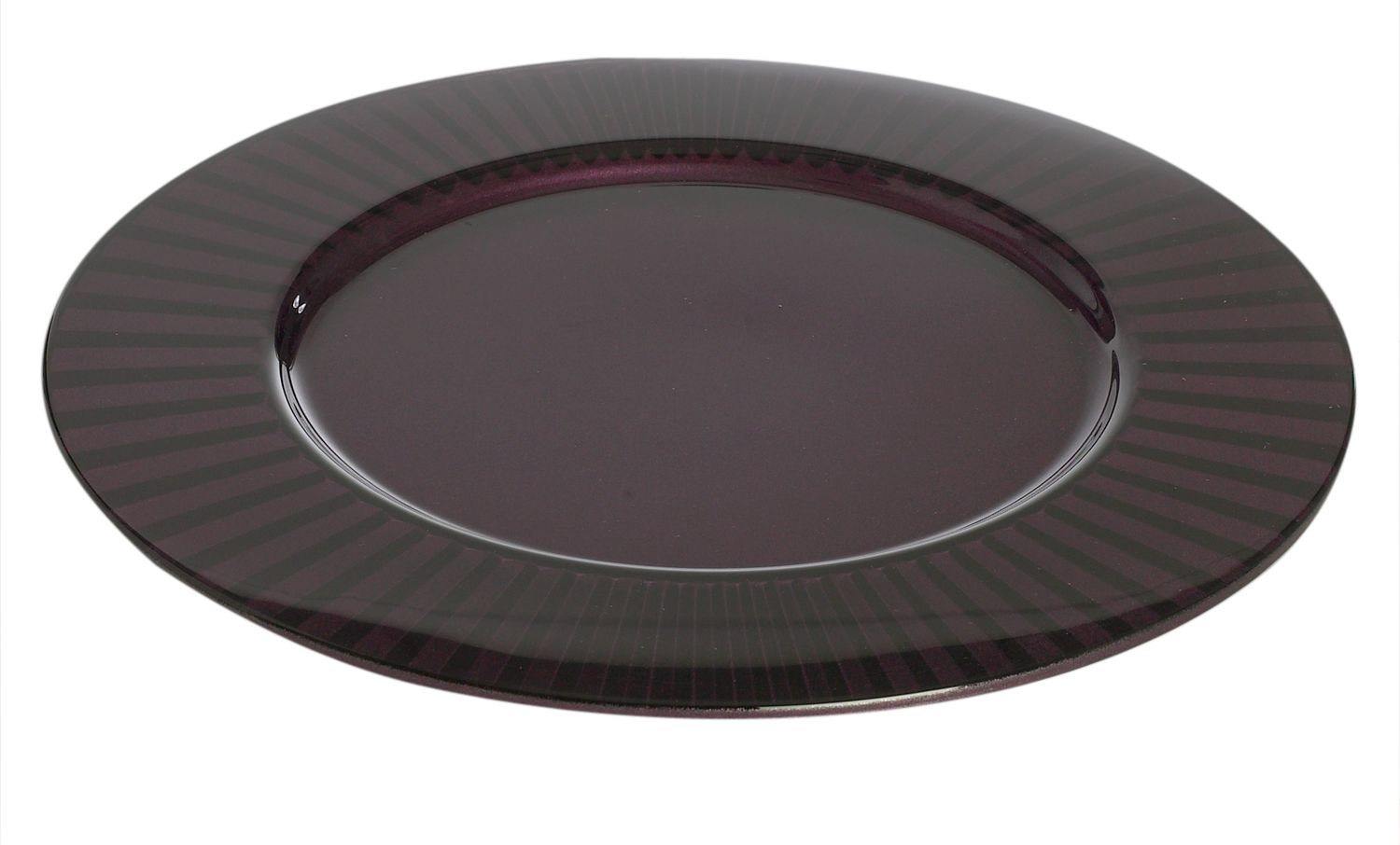 Linea Diva purple coloured glass charger