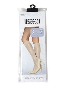 Wolford 3 pack satin touch 20 k/highs for the price of 2