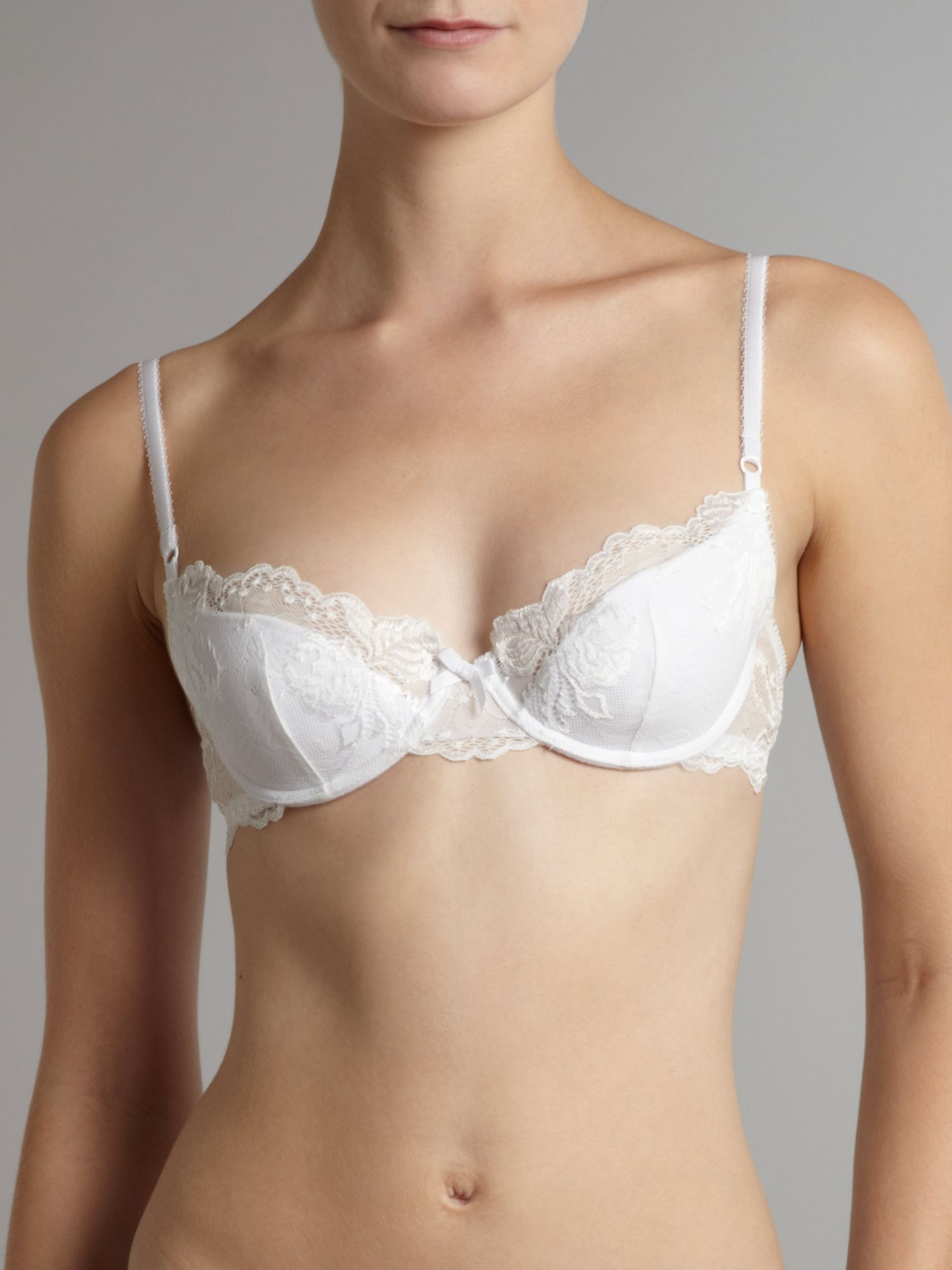 Spree White contour bra