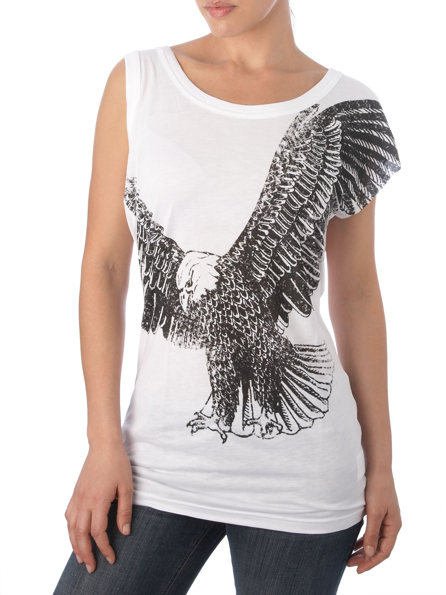 Therapy eagle print t shirt review compare prices buy for T shirt printing santa barbara