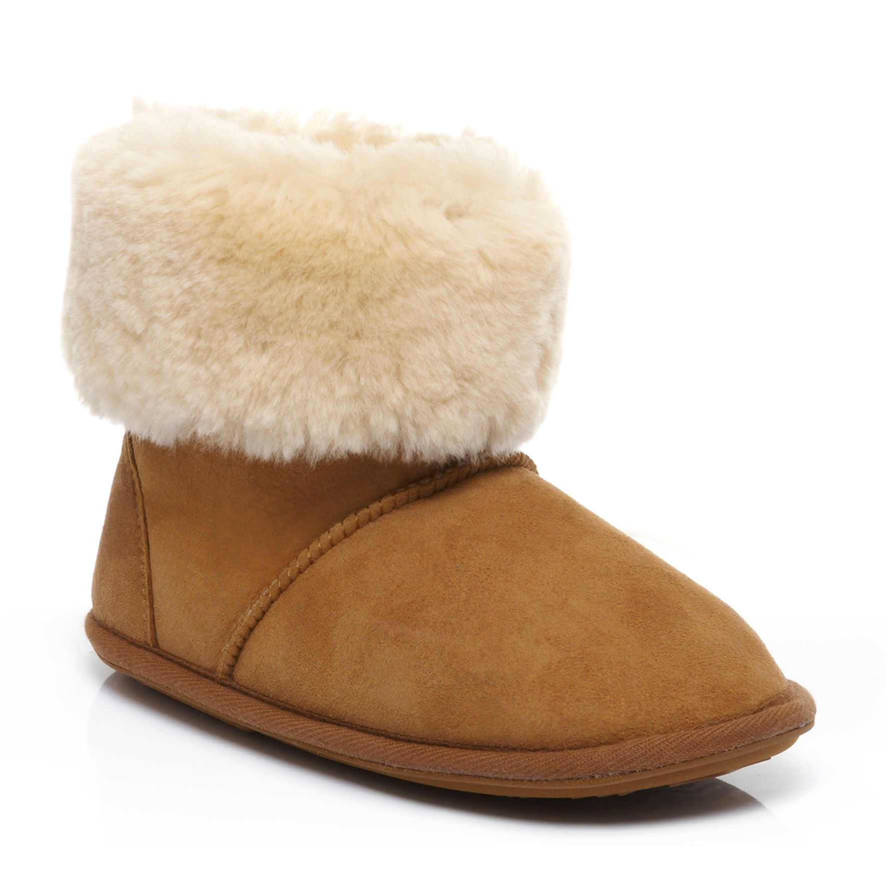 Albery sheepskin boot with textile sole