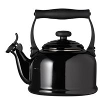 Le Creuset Black traditional kettle with fixed whistle