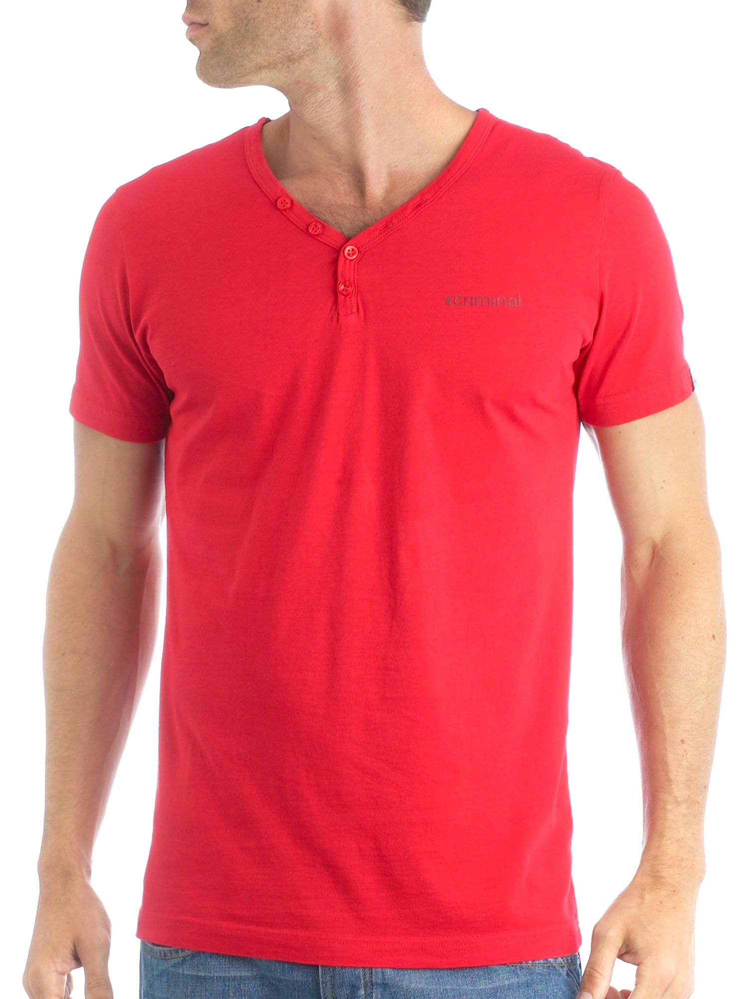 Criminal Short sleeved Y-Neck tee product image