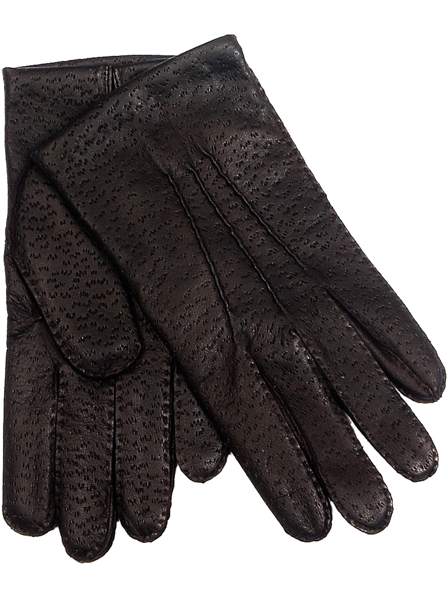 Stitched gloves with beige lining