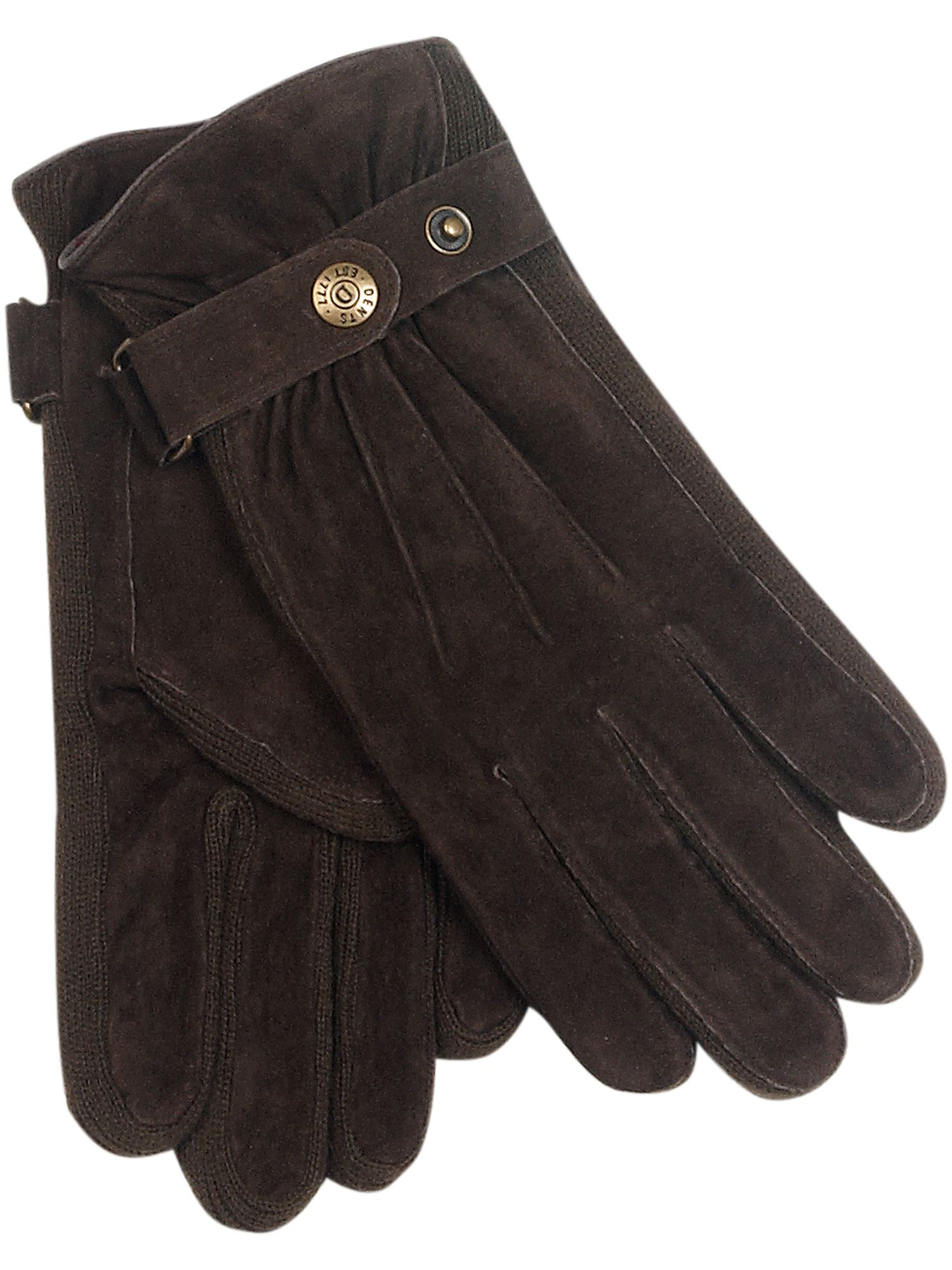 Gloves with buttoned fastener