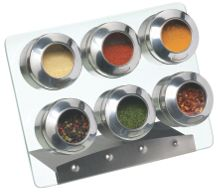 Spice Rack Set With 6 Spice Jars