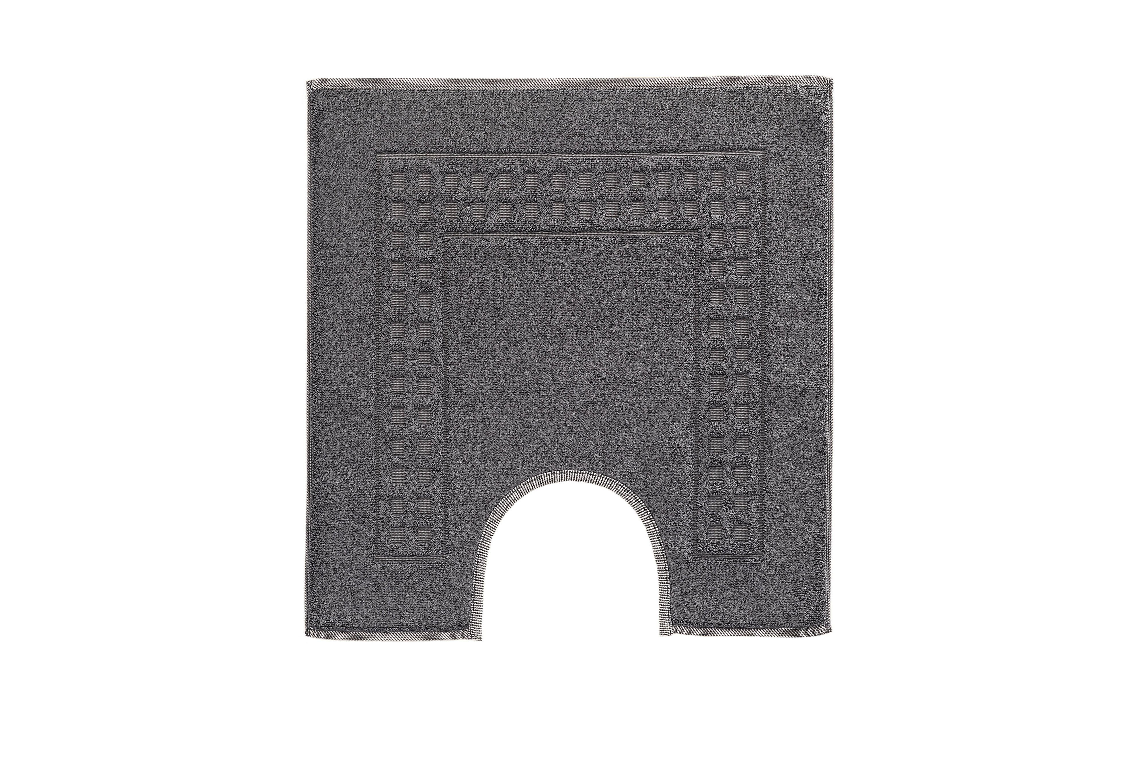 Country bath mat range in charcoal