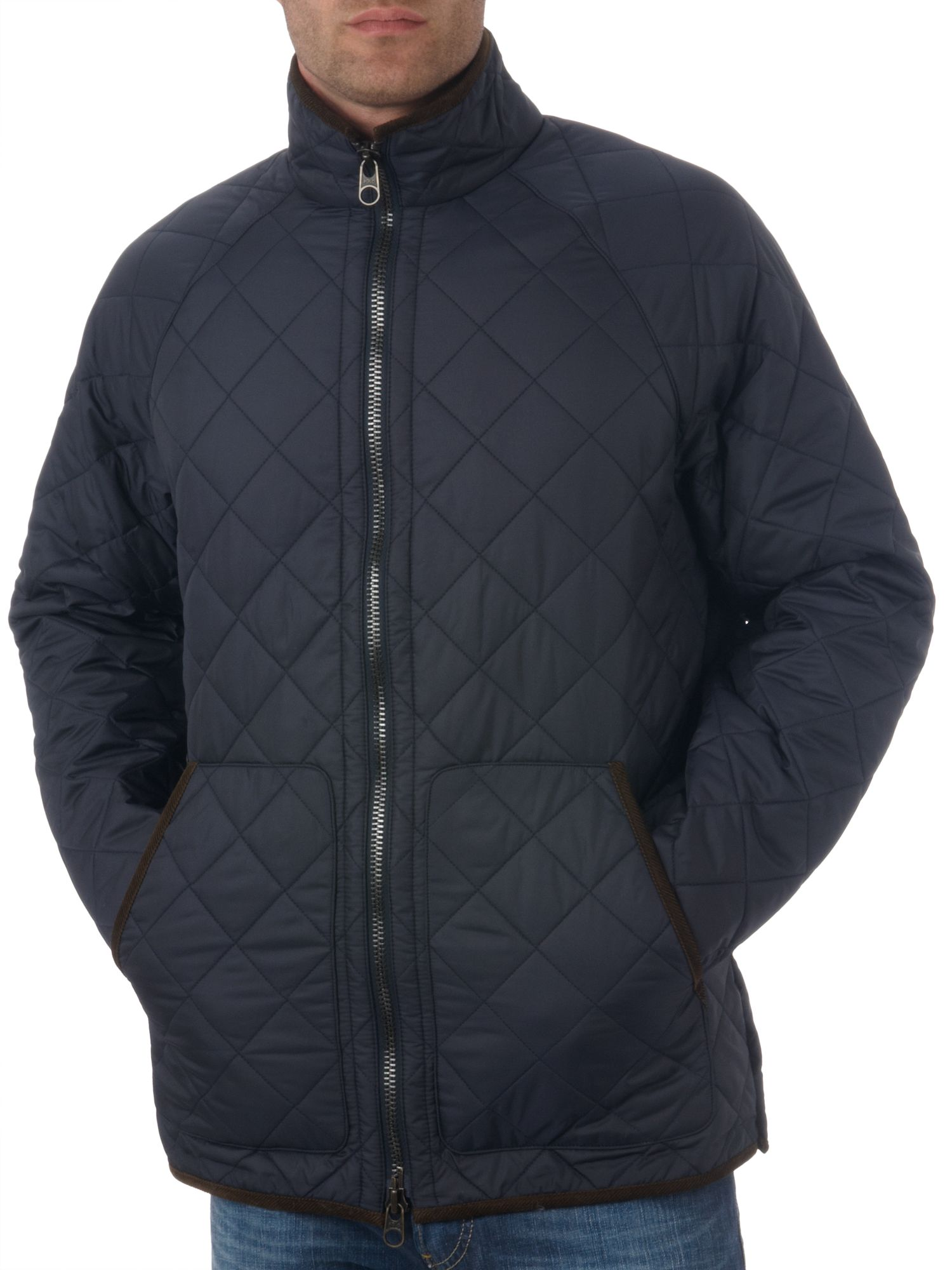 Ralph Lauren Casual quilted zip through jacket