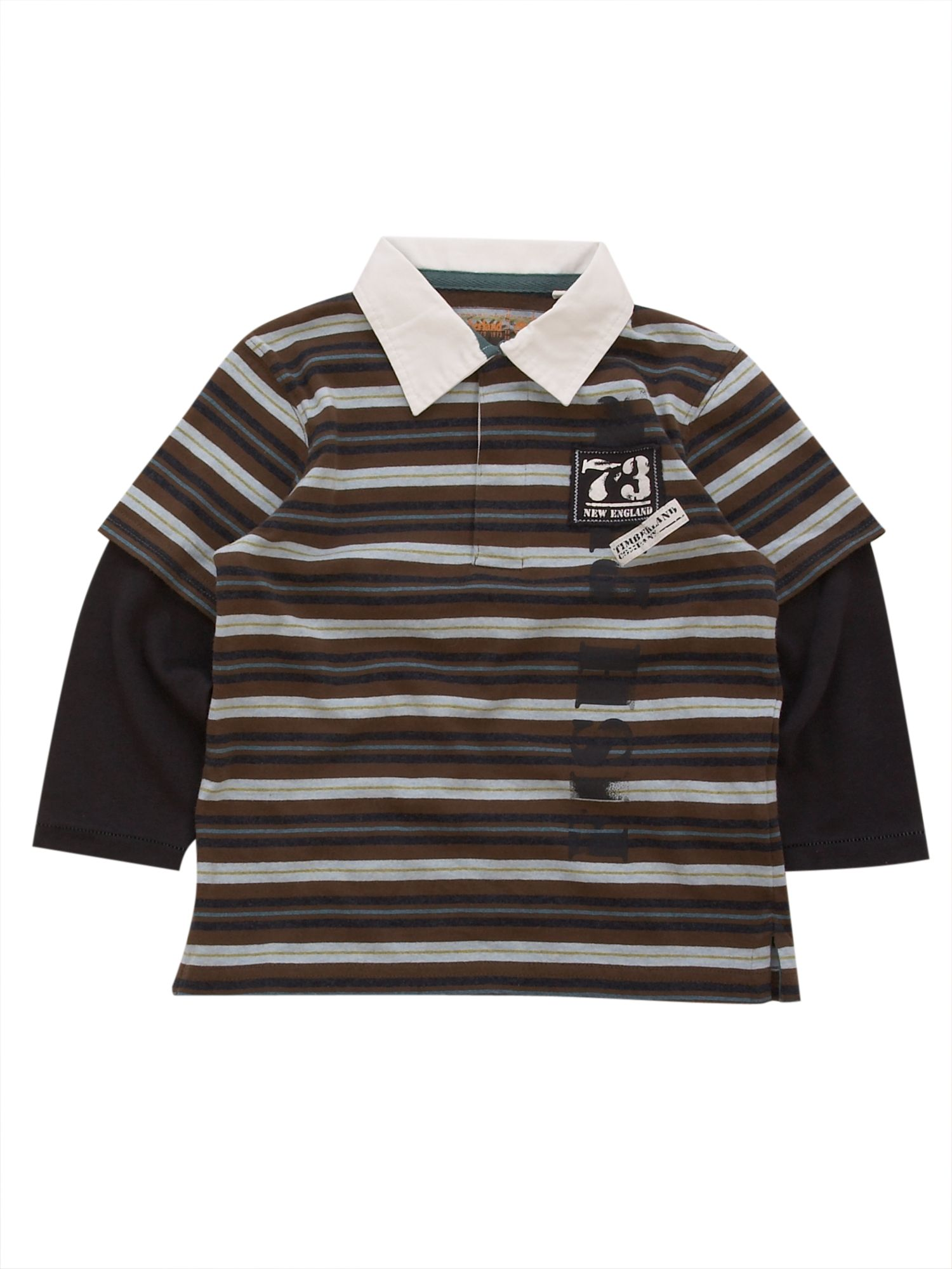 Boys striped polo shirt for Long sleeve striped rugby shirt