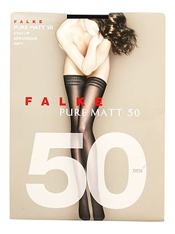 Pure matt 50 denier semi opaque hold ups