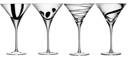 LSA Jazz set of four cocktail glasses