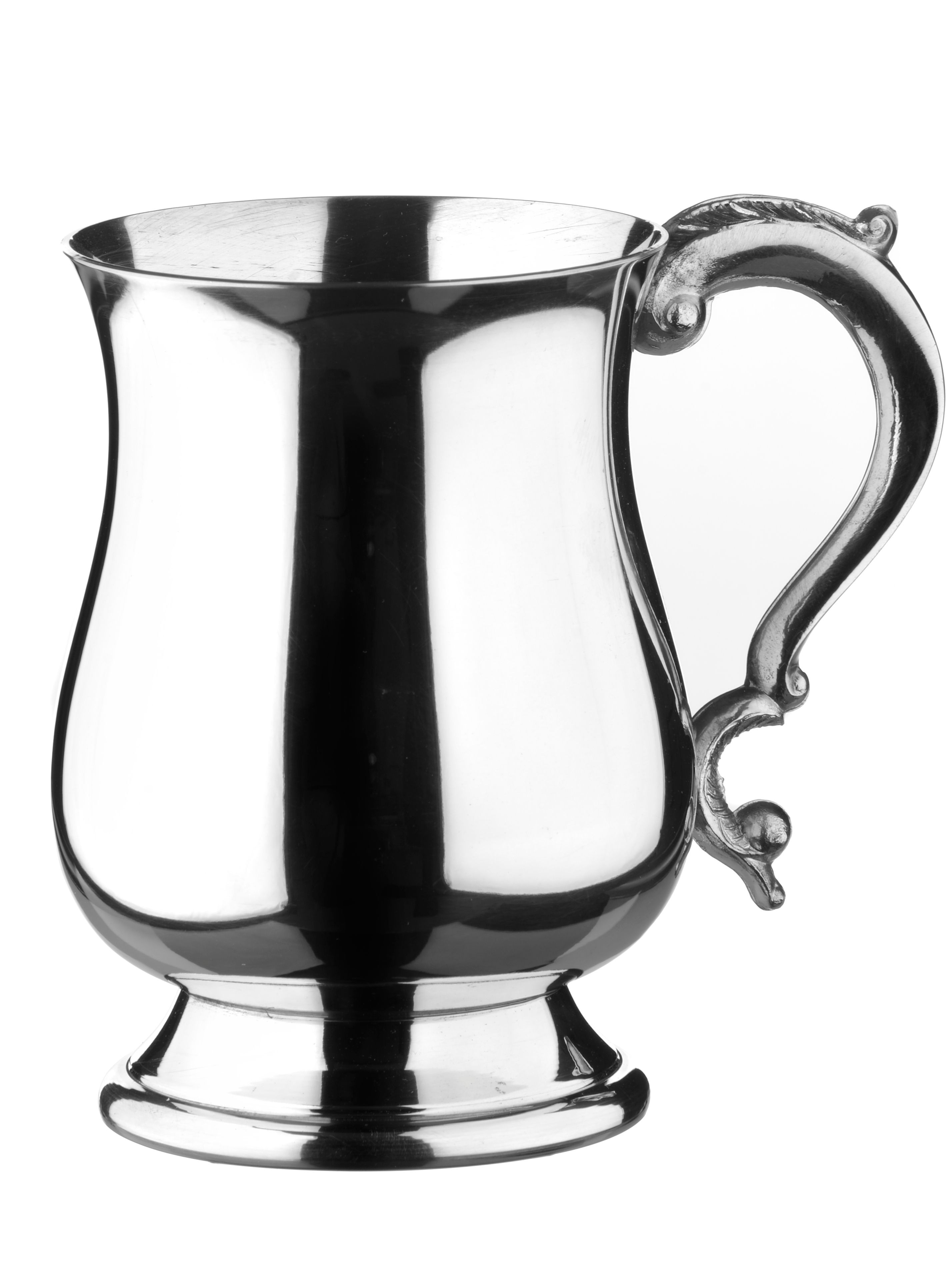 Georgian 1 pint pewter tankard