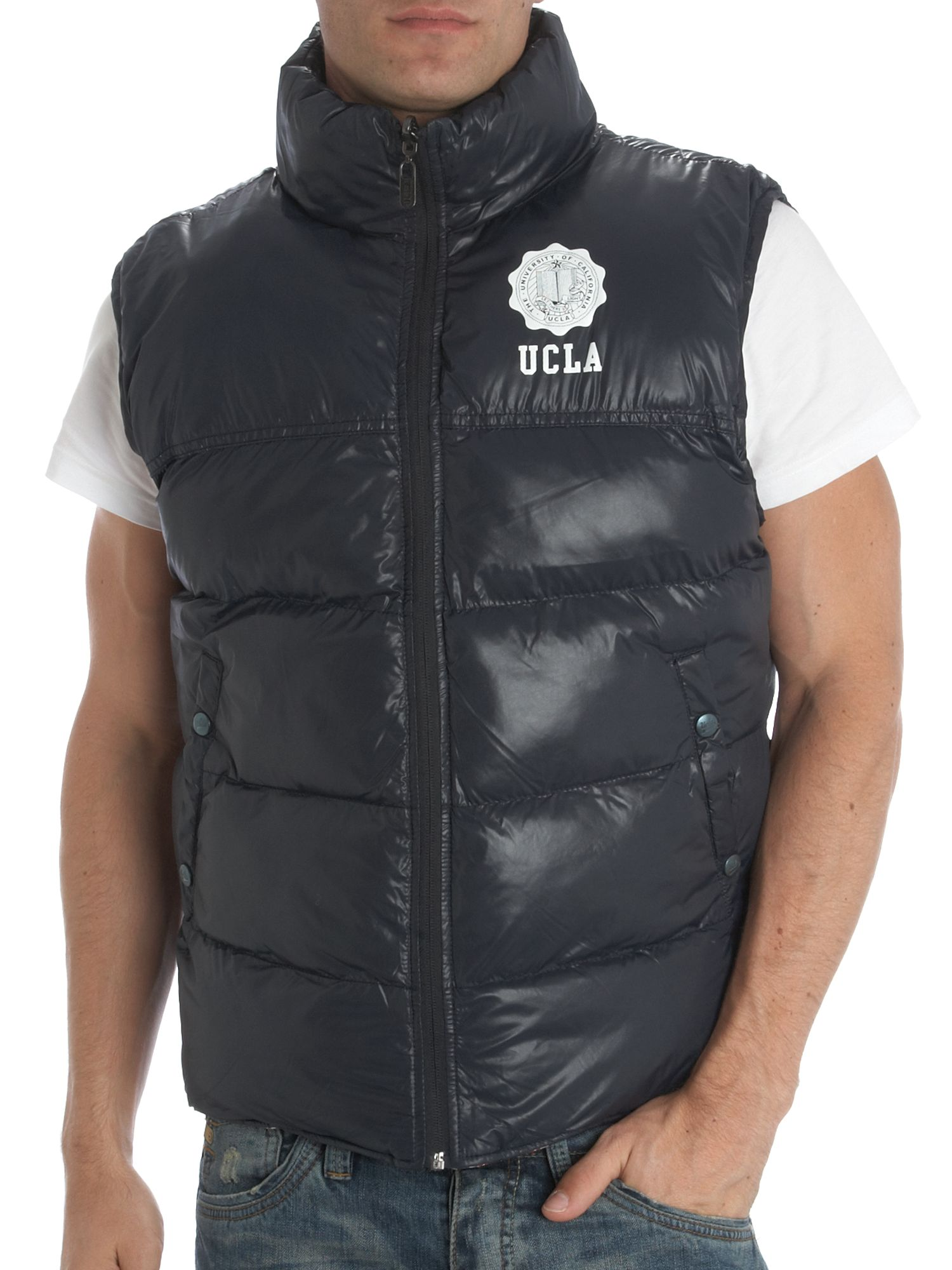 UCLA Quilted reversible gilet