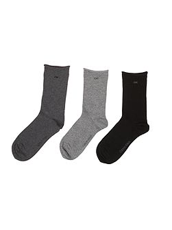 Roll top 3pk sock