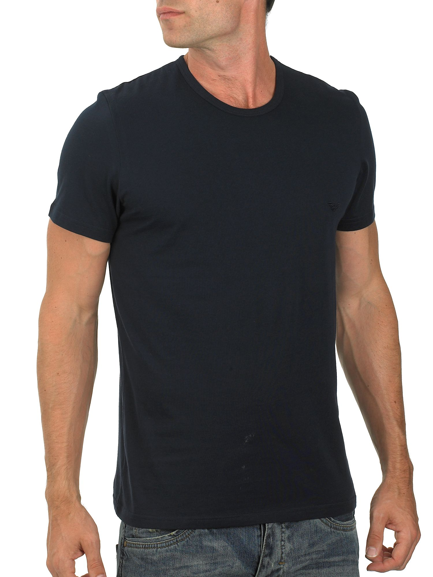 Emporio Armani Short-sleeved crew-neck T-shirt Navy product image