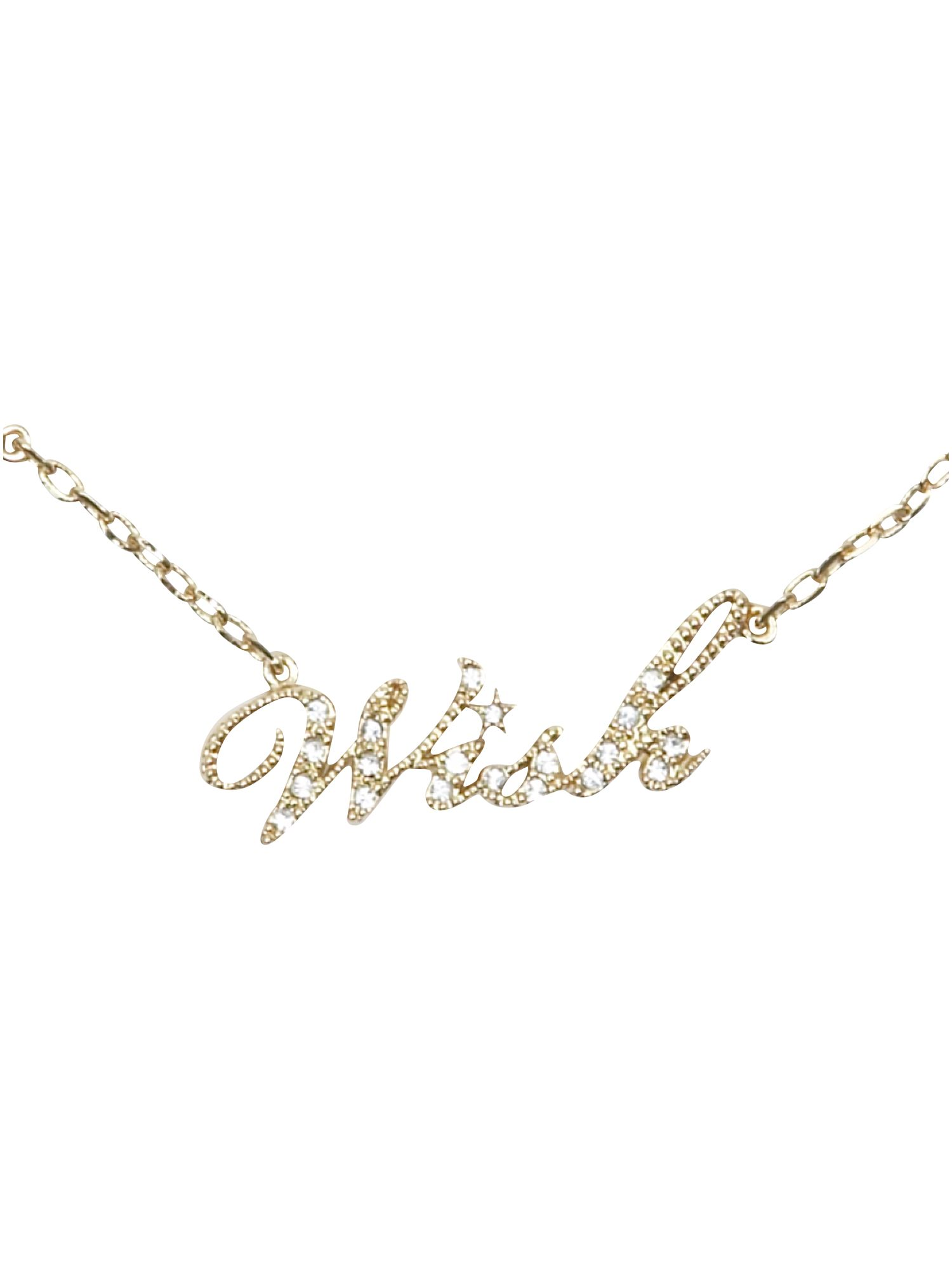 Disney Couture Wish gold plated necklace