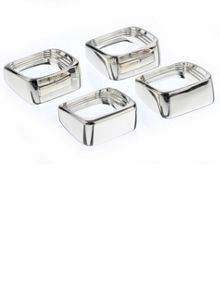 Silver plated set of 4 square napkin rings
