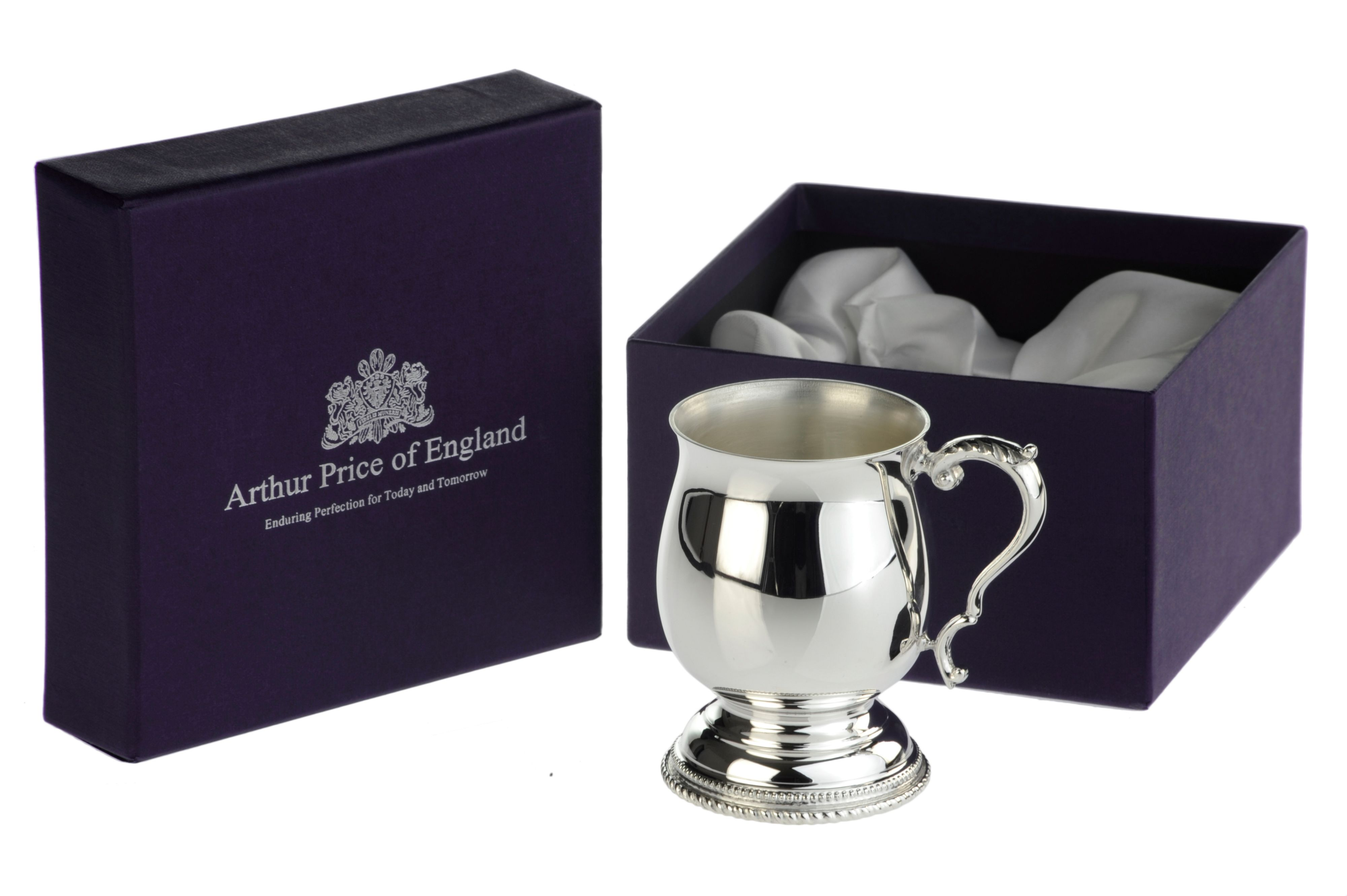 Silver plated childs tankard