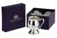 Arthur Price Silver plated childs tankard