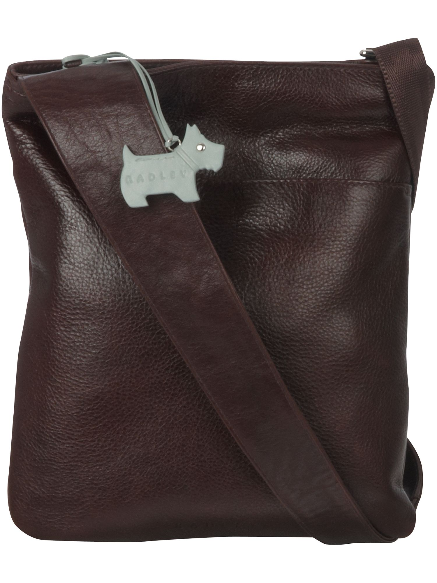 Pocket medium leather cross body bag.