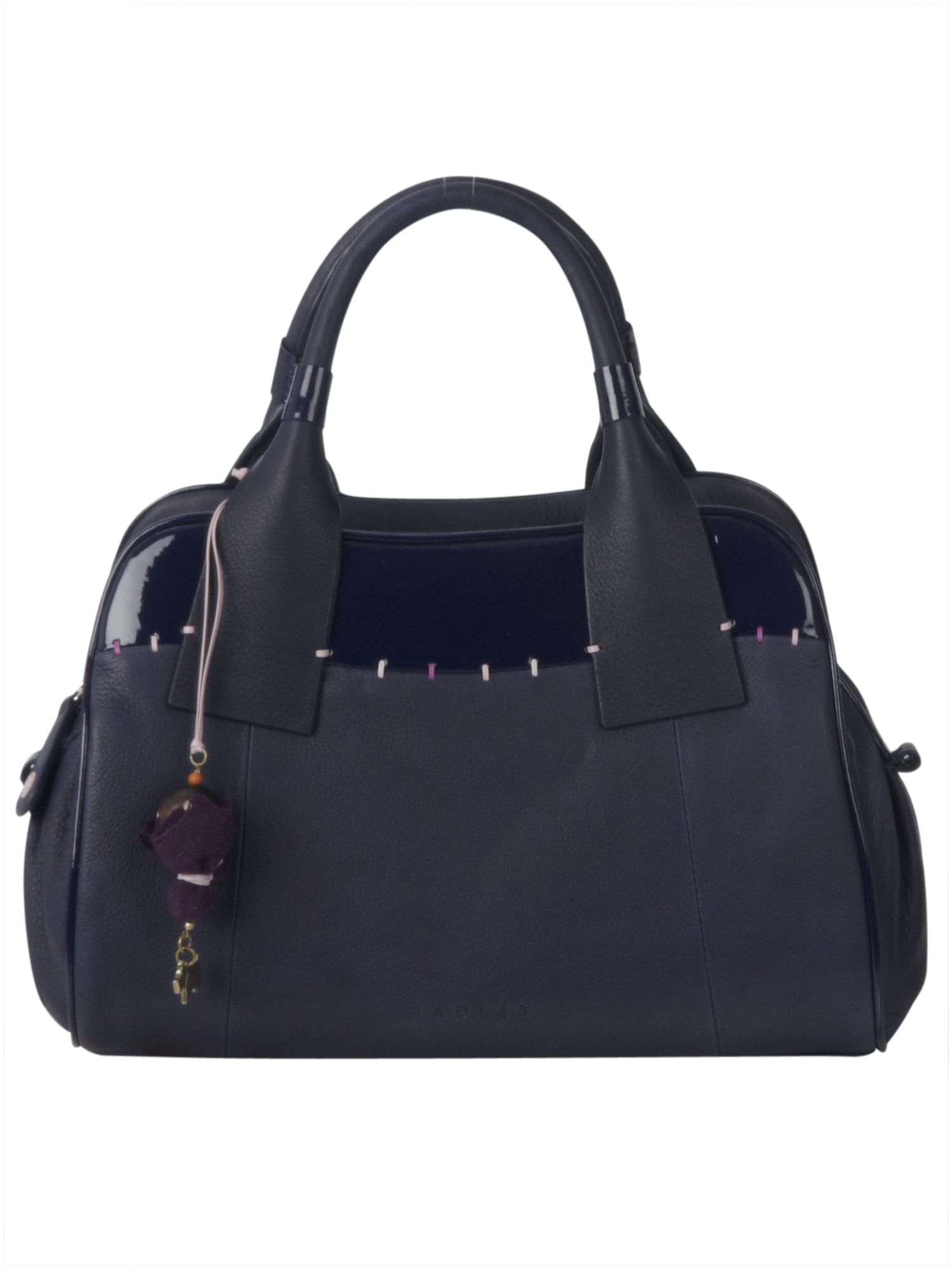 Porchester medium leather zip top tote bag
