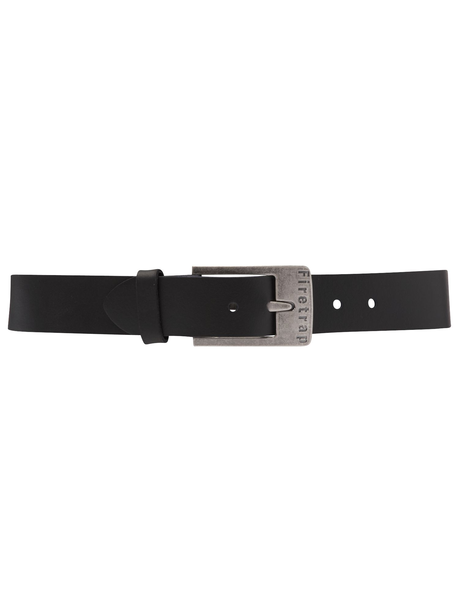 Firetrap Logo buckle belt Black