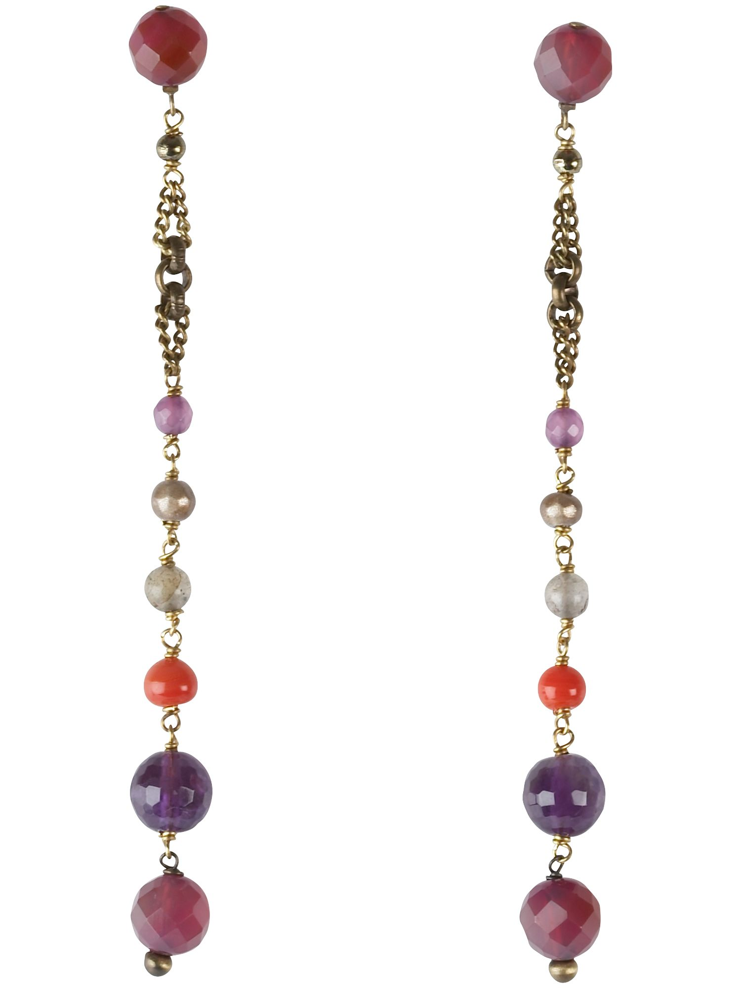 Pellini Amuleti red agate and resin drop earrings product image