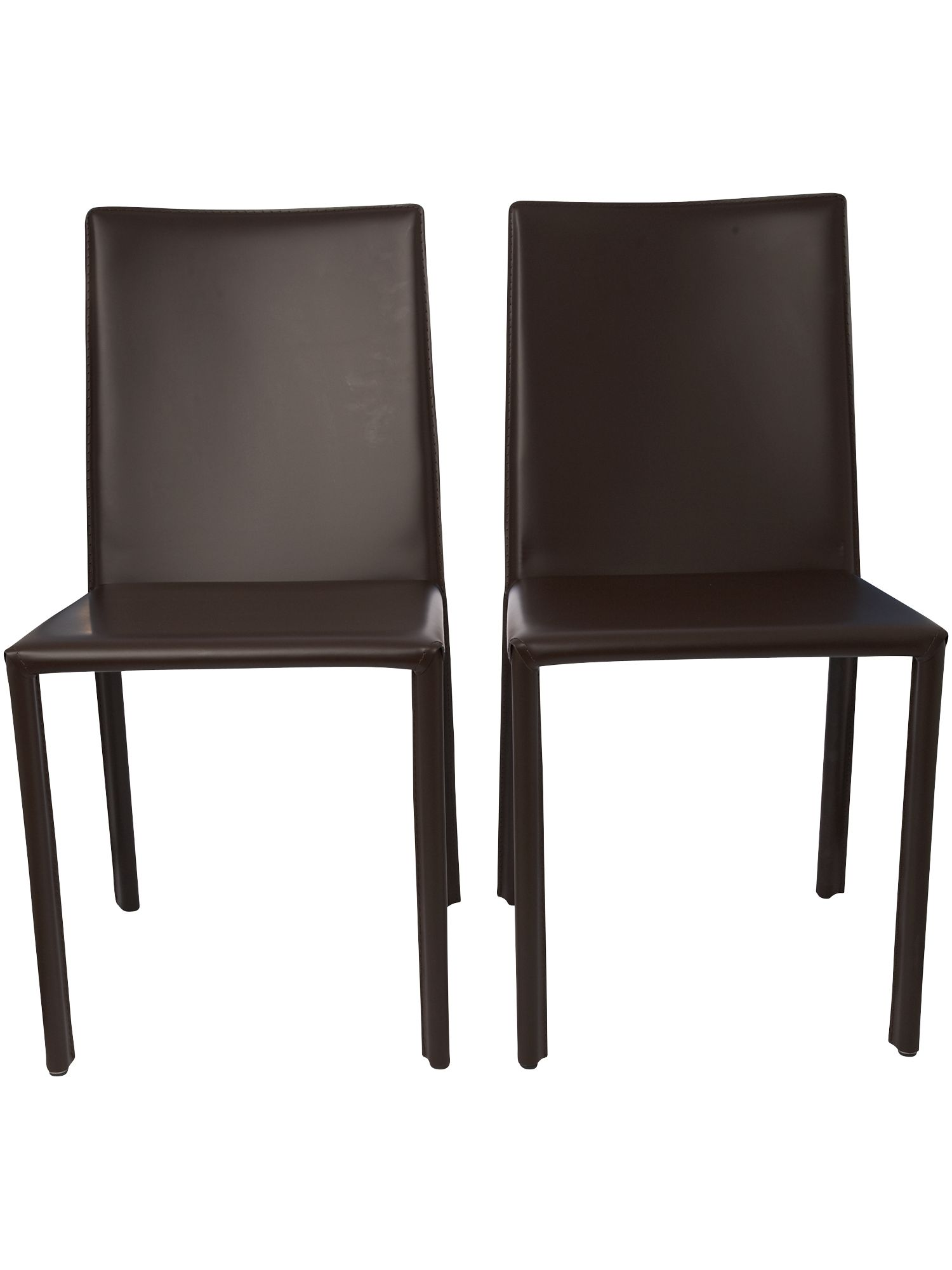 Pair of aida dining chairs in dark brown