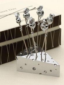 Silver plated Cheese `n` 6 picks set