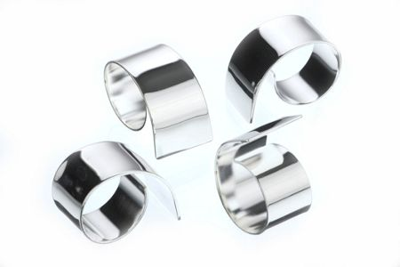 Arthur Price Silver plated set of 4 swirl napkin rings