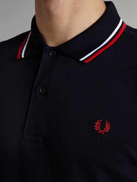 Fred Perry Short-Sleeve Cotton Polo Shirt