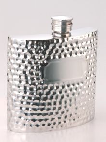 Hammered style hip flask