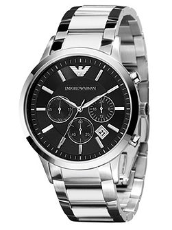 AR2434 Classic Silver Mens Bracelet Watch
