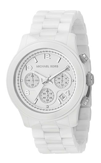 Michael Kors Round Case, Mixed Chrono Dial, White ceramic product image