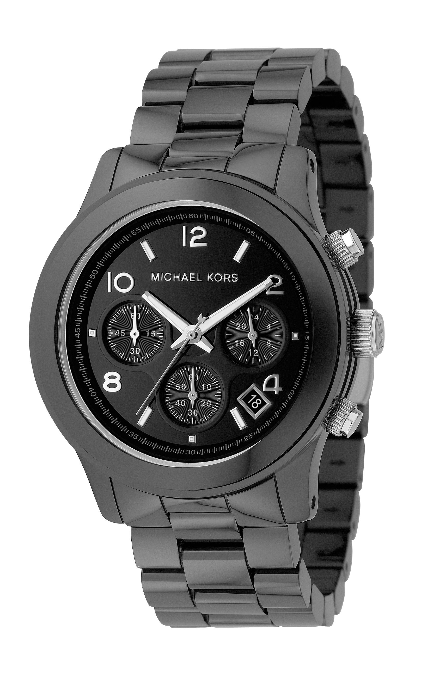 Michael Kors Round Case, Mixed Chrono Dial, Black ceramic product image