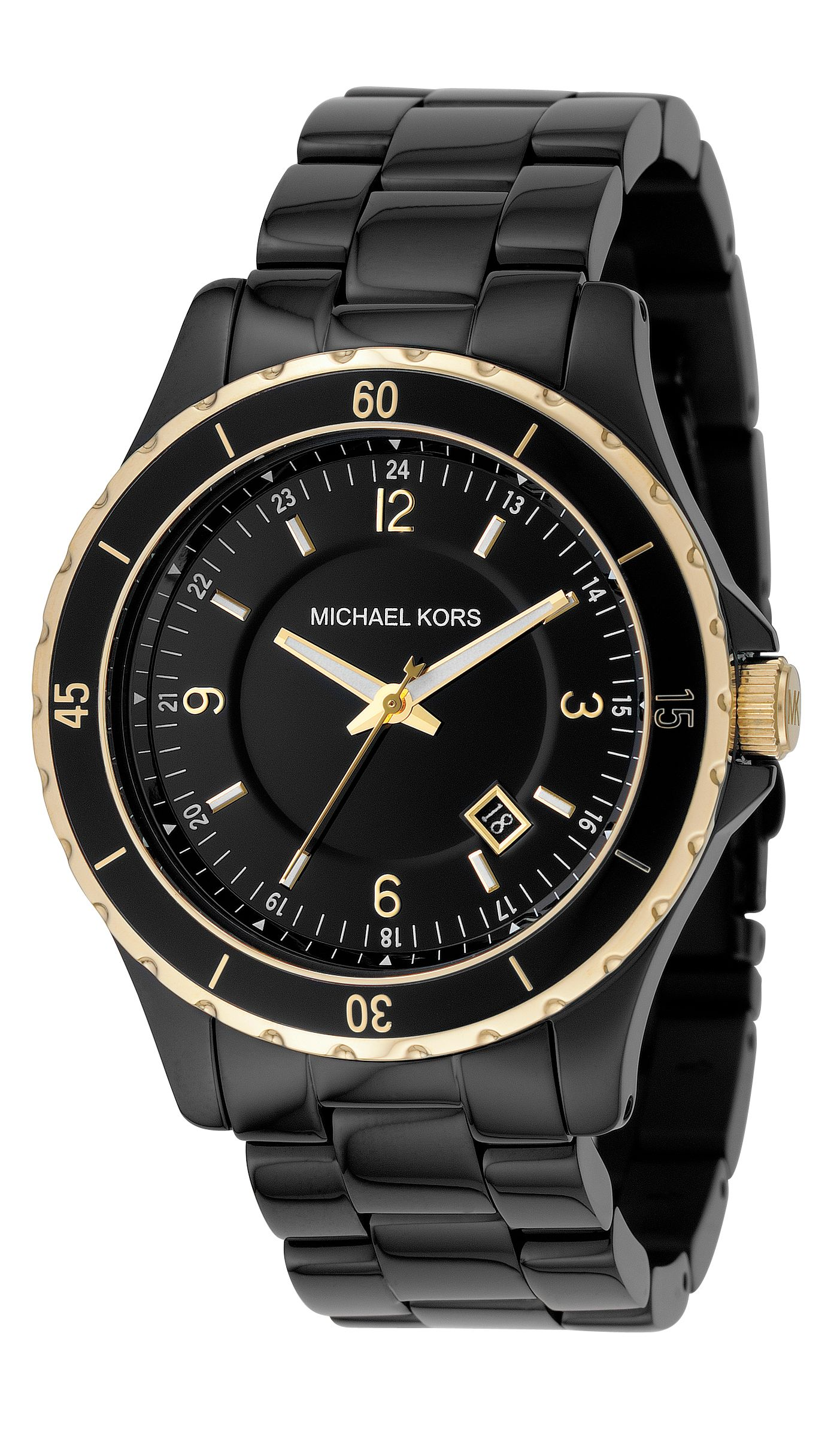 Michael Kors Round case with black dial watch product image