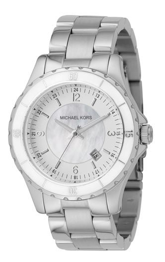 Michael Kors Round case with silver dial watch product image