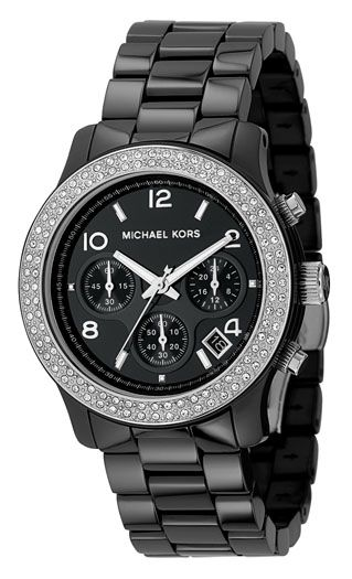Michael Kors Round case with crystal detail watch product image