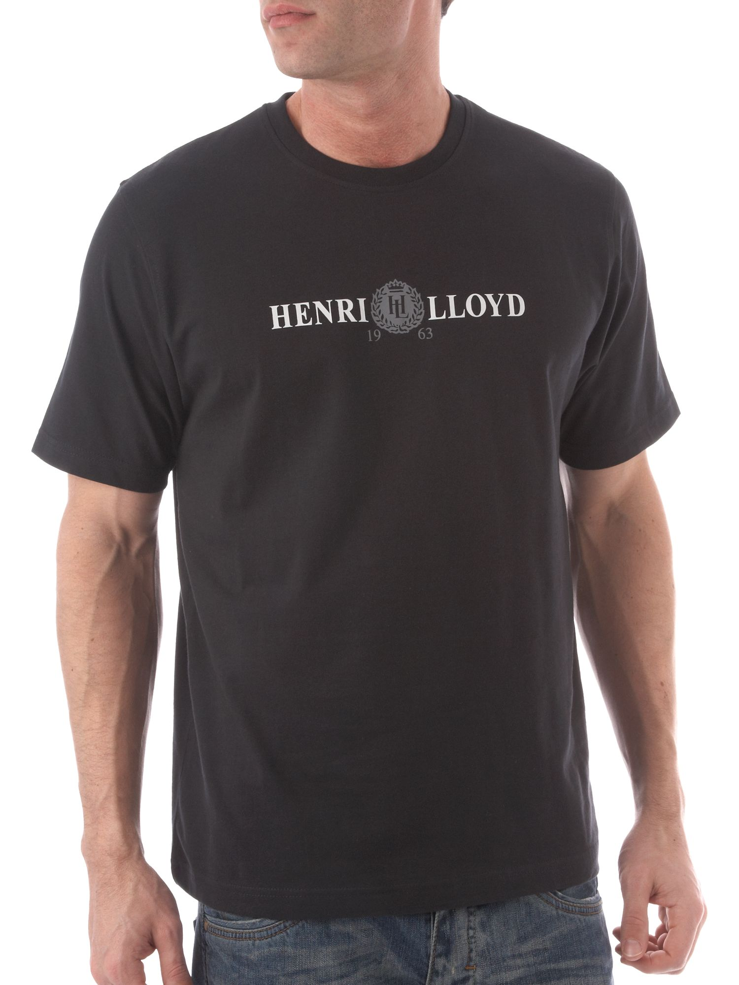 Henri Lloyd Mens casual Derby print crew neck T-shirt product image