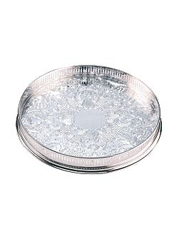 14 inch round embossed gallery tray